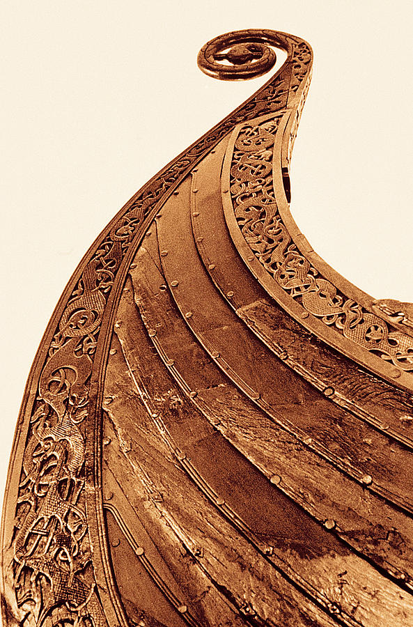 Detail On Viking Boat At Museum, Oslo Photograph by Walter Bibikow