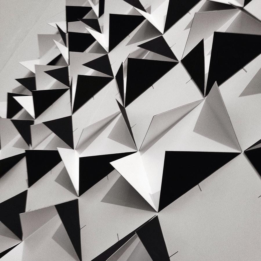 Detail Shot Of Wall With Black Folded Photograph by David Crunelle / Eyeem