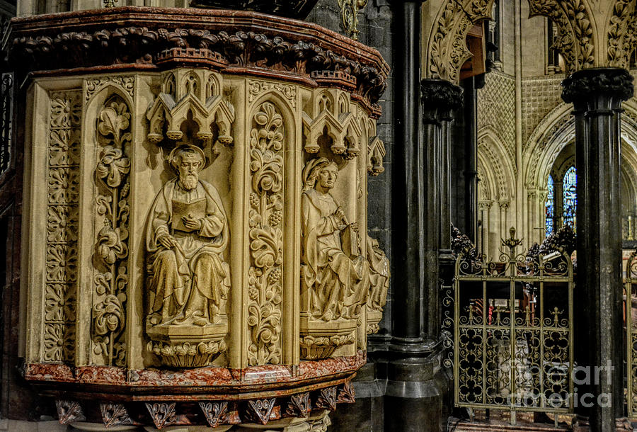 Detailed View of Pulpit, Chist Church Cathedral, Dublin by Rebecca Carr