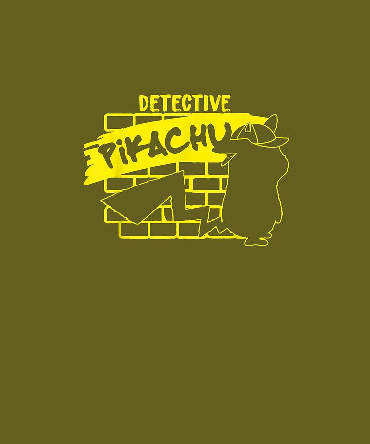 Detective Pikachu Grafitti T-shirt Digital Art By Do David