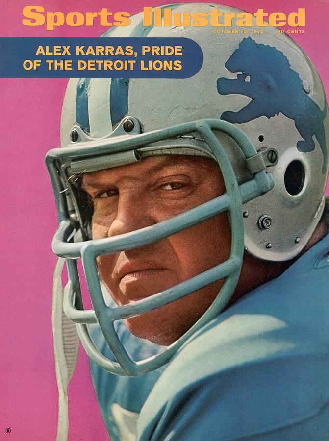Detroit Lions Alex Karras Sports Illustrated Cover Photograph by Sports Illustrated