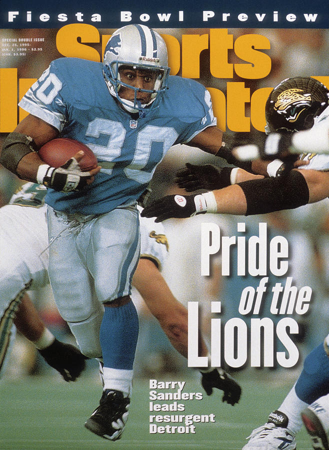 Detroit Lions Barry Sanders... Sports Illustrated Cover Photograph by Sports Illustrated