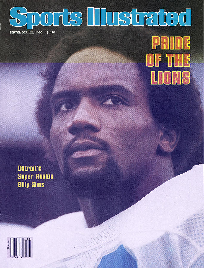 Detroit Lions Billy Sims Sports Illustrated Cover Photograph by Sports Illustrated