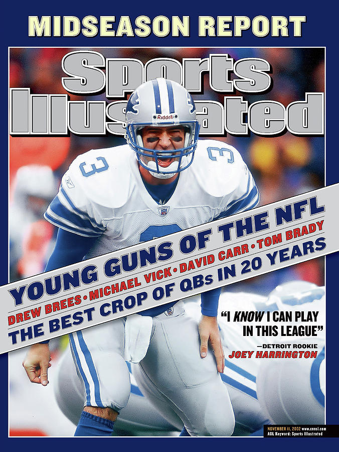 Detroit Lions Qb Joey Harrington... Sports Illustrated Cover Photograph by Sports Illustrated