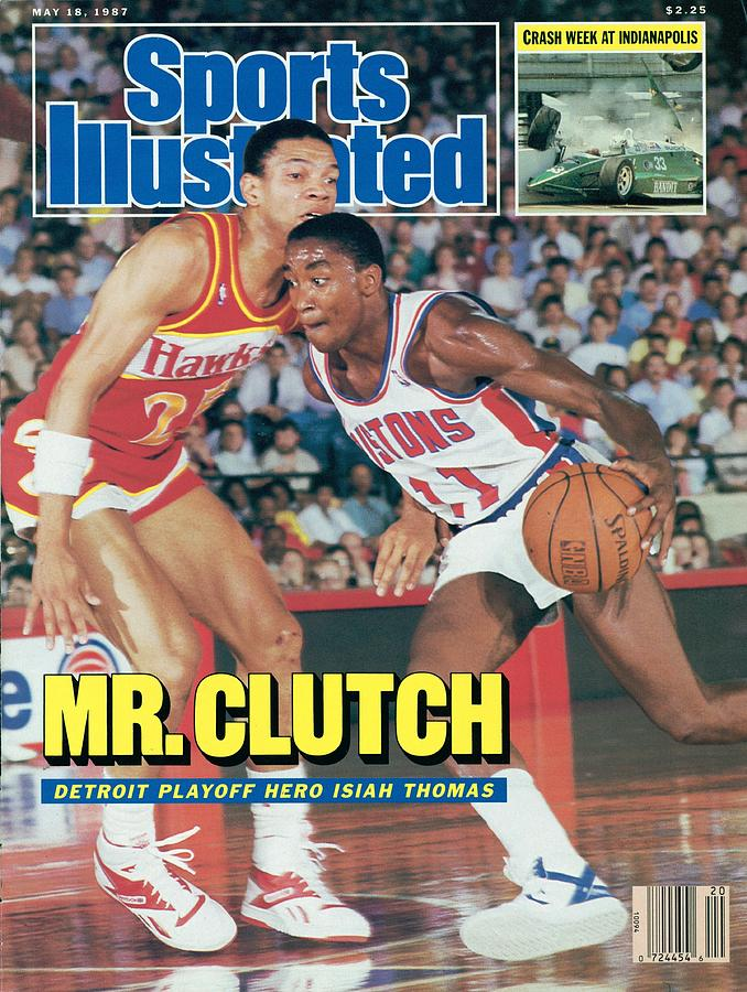Detroit Pistons Isiah Thomas, 1987 Nba Eastern Conference Sports Illustrated Cover Photograph by Sports Illustrated