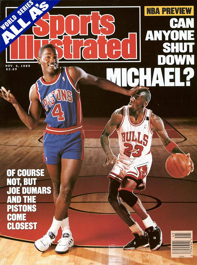 Detroit Pistons Joe Dumars, 1989 Nba Basketball Preview Sports Illustrated Cover Photograph by Sports Illustrated