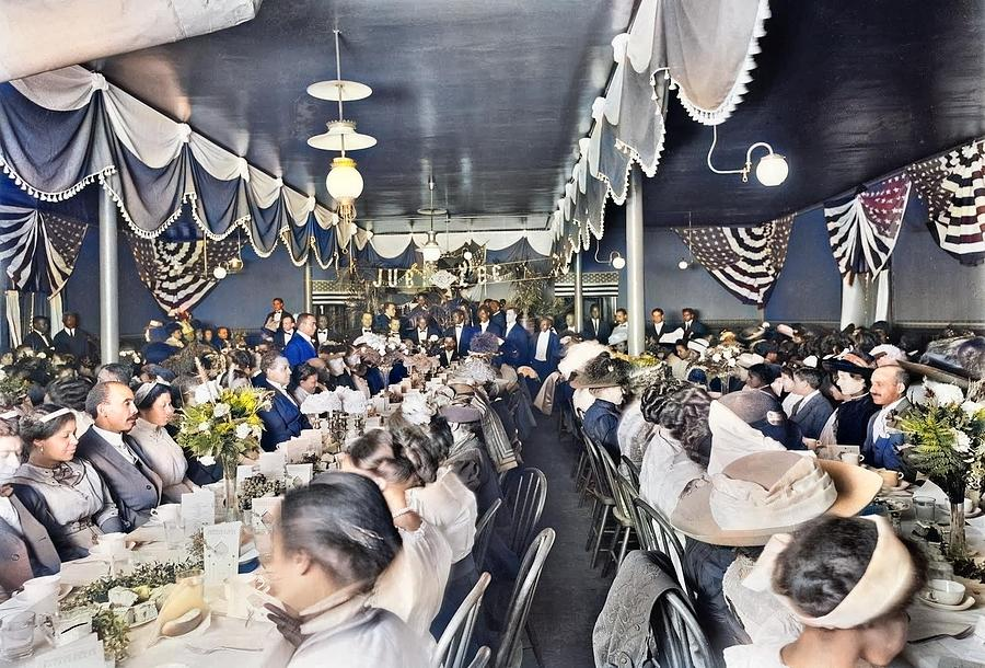 Detroit Publishing - Diamond Jubilee Banquet, 1911 Colorized By Ahmet Asar Painting