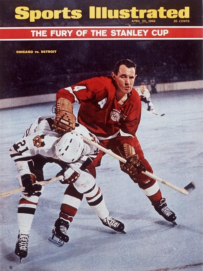 Detroit Red Wings Bill Gadsby, 1966 Nhl Playoffs Sports Illustrated Cover Photograph by Sports Illustrated