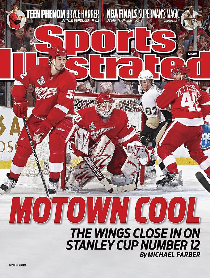 Detroit Red Wings Goalie Chris Osgood, 2009 Nhl Stanley Cup Sports Illustrated Cover Photograph by Sports Illustrated