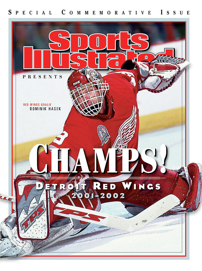 Detroit Red Wings Goalie Dominik Hasek, 2002 Nhl Stanley Sports Illustrated Cover Photograph by Sports Illustrated