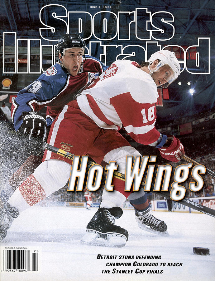 Detroit Red Wings Kirk Maltby, 1997 Nhl Western Conference Sports Illustrated Cover Photograph by Sports Illustrated