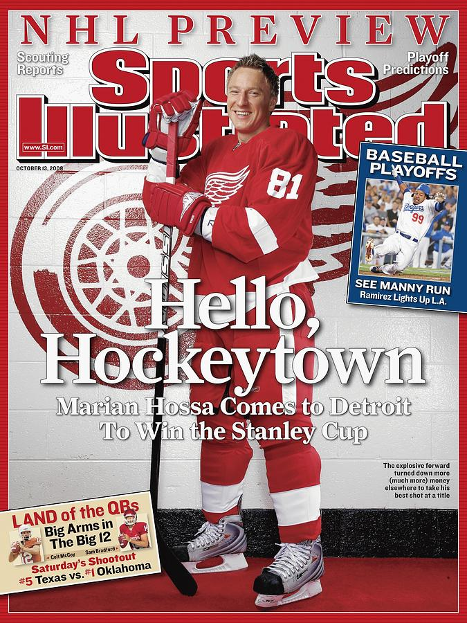 Detroit Red Wings Marian Hossa, 2008 Nhl Hockey Preview Sports Illustrated Cover Photograph by Sports Illustrated