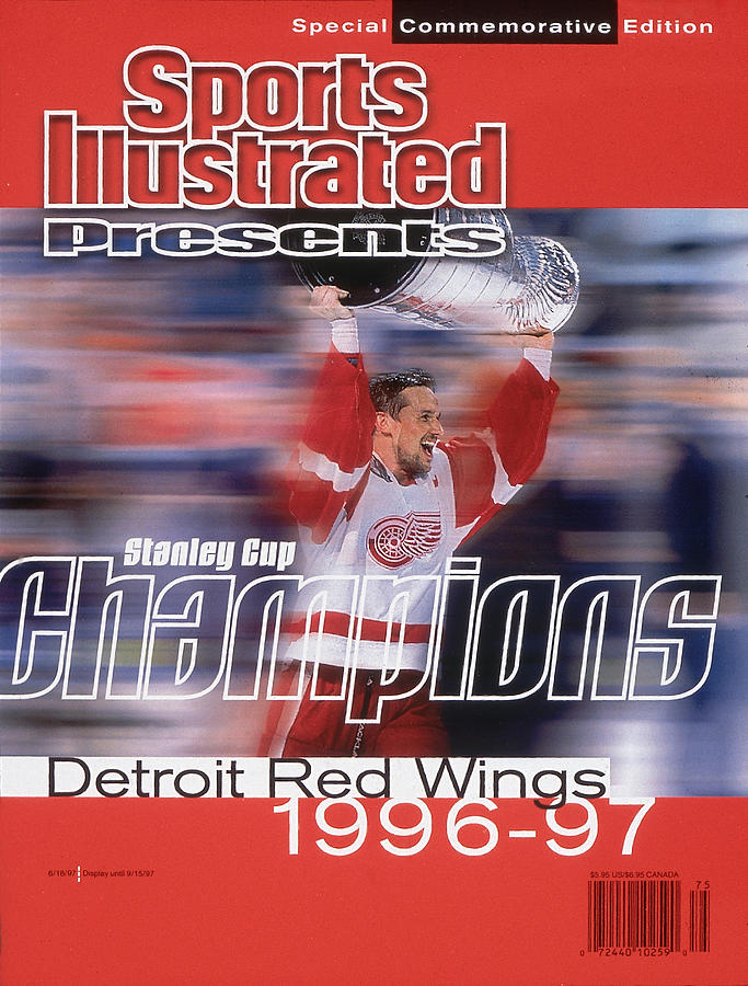 Detroit Red Wings Steve Yzerman, 1997 Nhl Stanley Cup Sports Illustrated Cover Photograph by Sports Illustrated