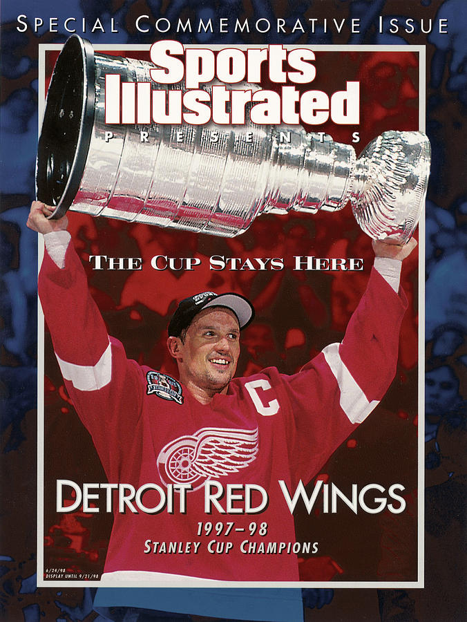 Detroit Red Wings Steve Yzerman, 1998 Nhl Finals Sports Illustrated Cover Photograph by Sports Illustrated