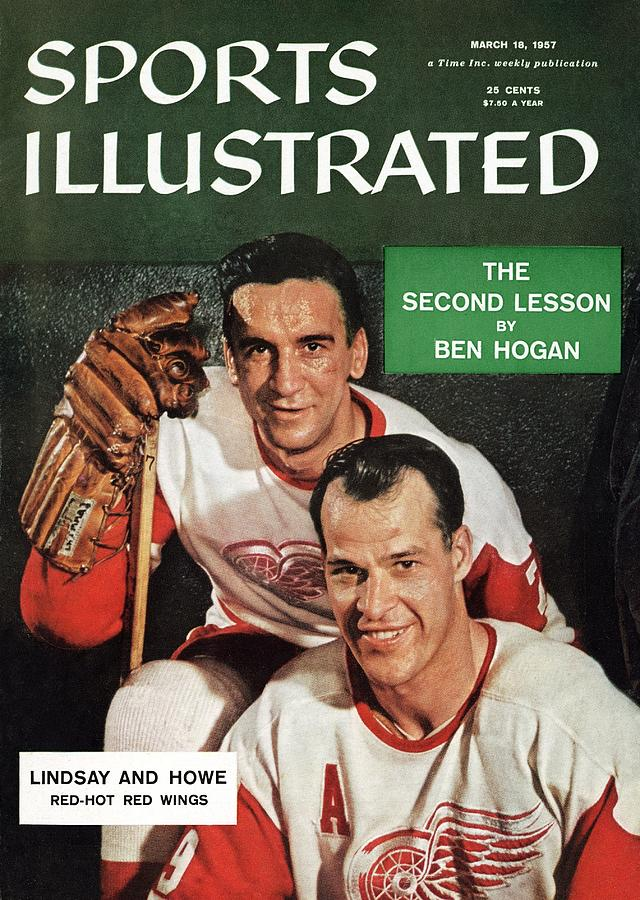 Detroit Red Wings Ted Lindsay And Gordie Howe Sports Illustrated Cover Photograph by Sports Illustrated