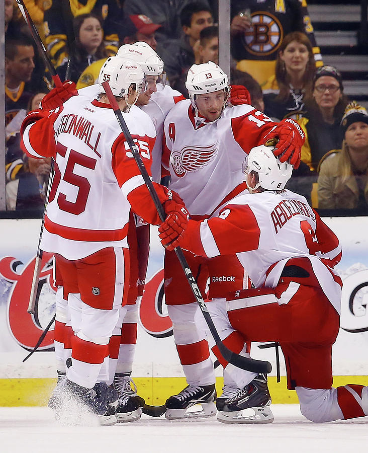 Detroit Red Wings V Boston Bruins - Photograph by Jared Wickerham