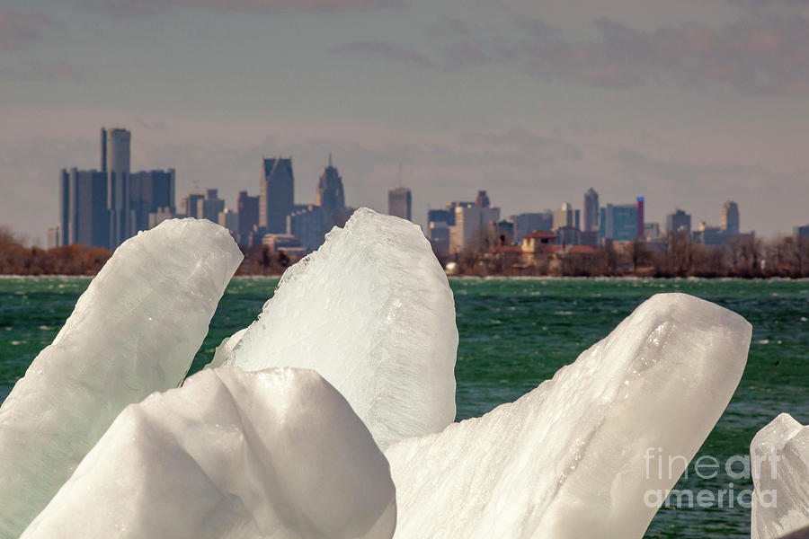 Detroit River Ice by Jim West