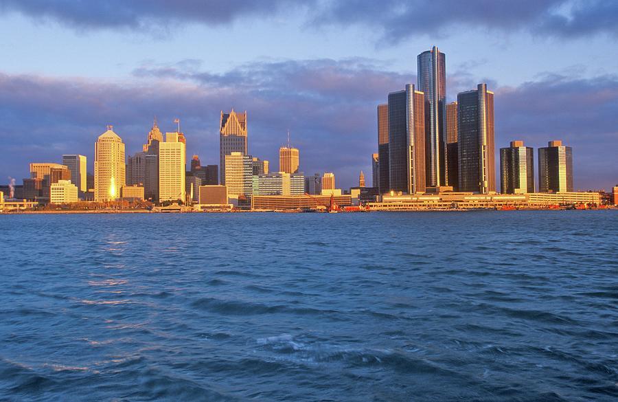 Detroit Skyline At Sunrise From Photograph by Visionsofamerica/joe Sohm