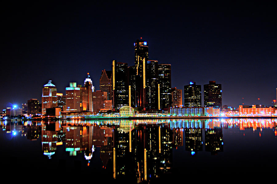Detroit Skyline Photograph by Linda Goodhue Photography