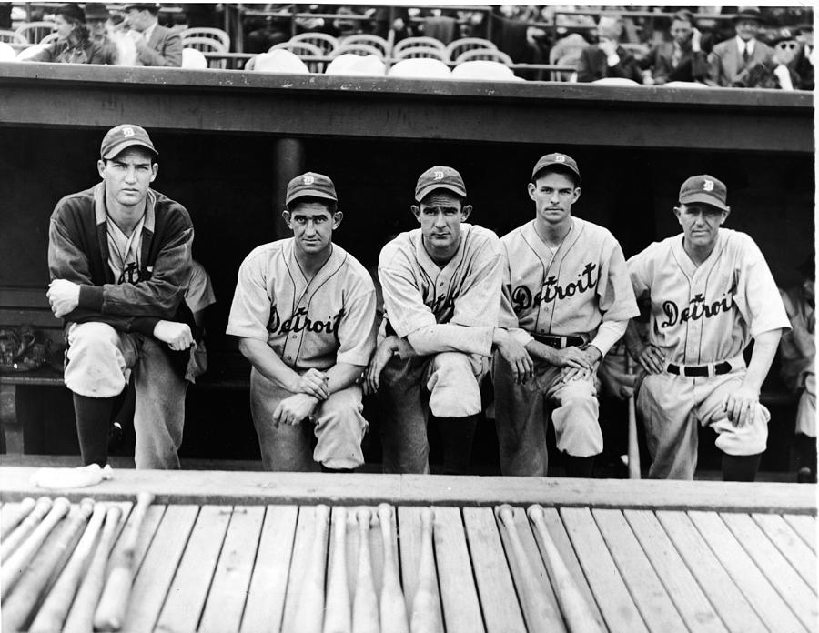 Detroit Tigers 1935 Pitching Staff And Photograph by Fpg