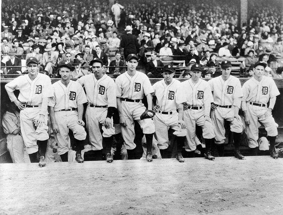 Detroit Tigers 1935 Pitching Staff At Photograph by Fpg