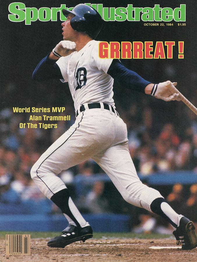 Detroit Tigers Alan Trammell, 1984 World Series Sports Illustrated Cover Photograph by Sports Illustrated