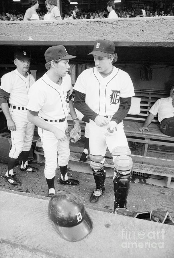 Detroit Tigers Baseball Players Photograph by Bettmann
