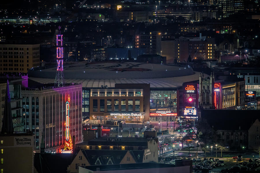 The Fox Theatre and Little Caesars Arena by Jay Smith