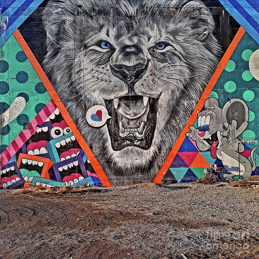 Detroit's Lion Mural by Walter Neal