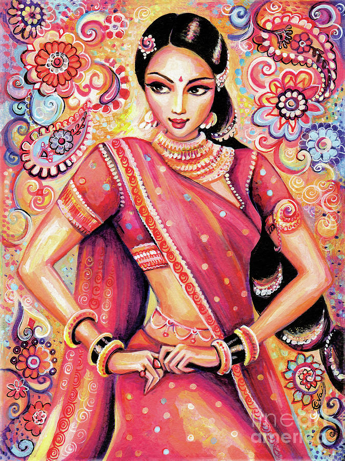 Indian Dancer Painting - Devika Dance by Eva Campbell