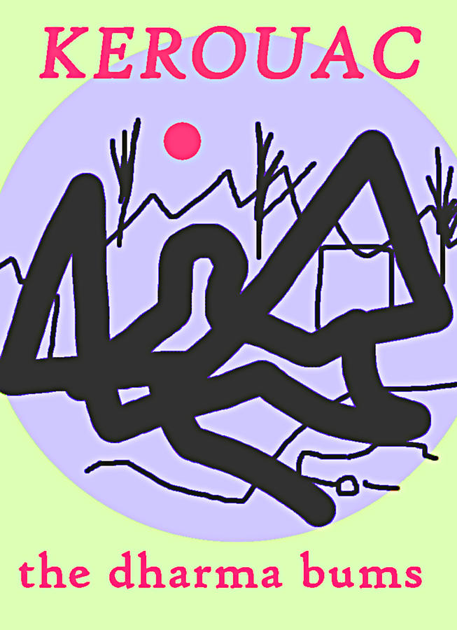 Dharma Bums Kerouac Poster by Paul Sutcliffe
