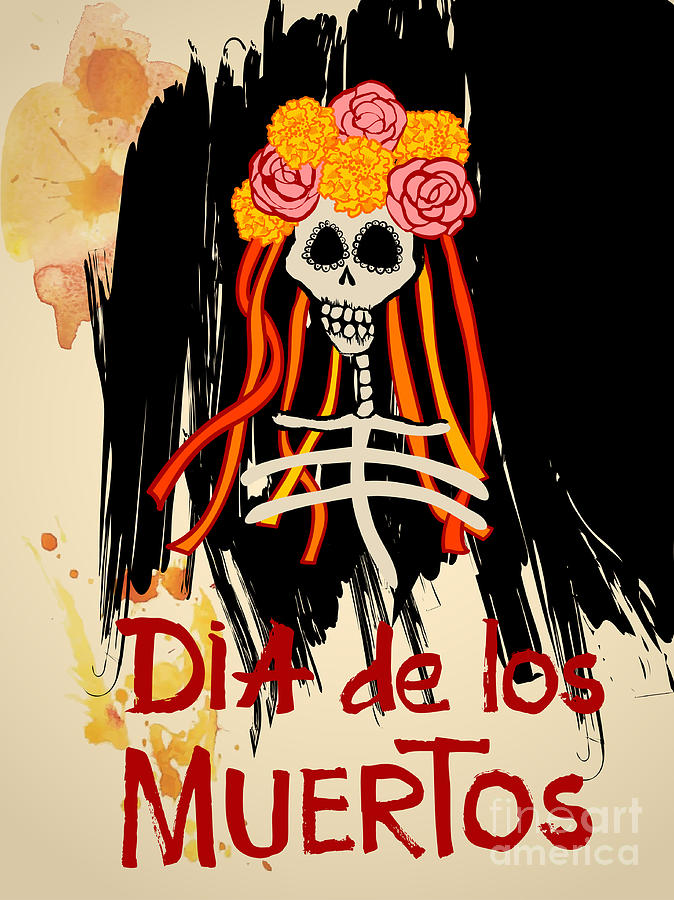 Symbol Digital Art - Dia De Los Muertos Day Of The Dead by Ajgul