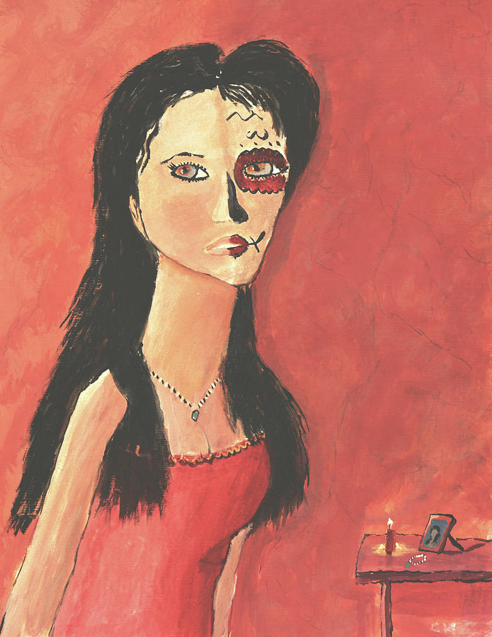 Dia De los Muertos Day of the Dead Woman by Chance Kafka