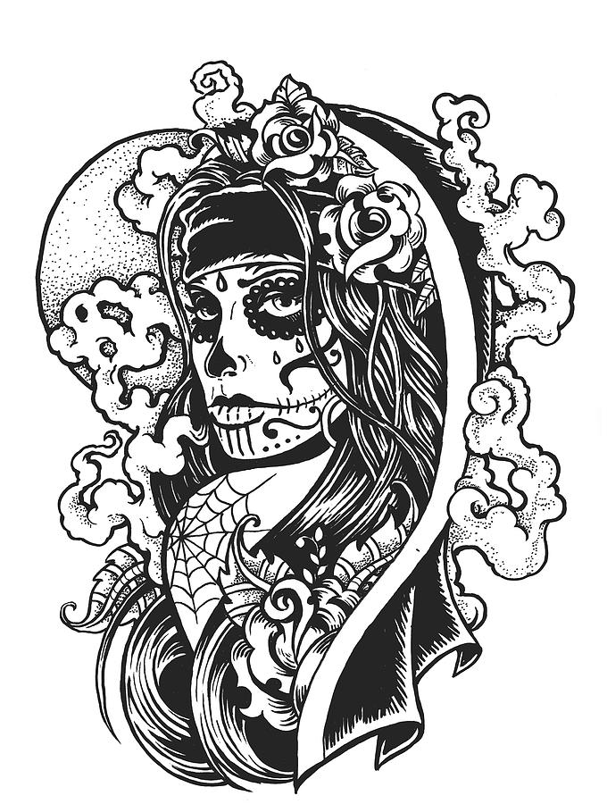 Dia De Los Muertos Digital Art by Strawcastle