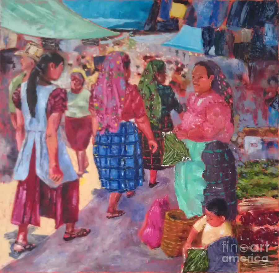 Mexican Painting - Dia de Plaza by Lilibeth Andre