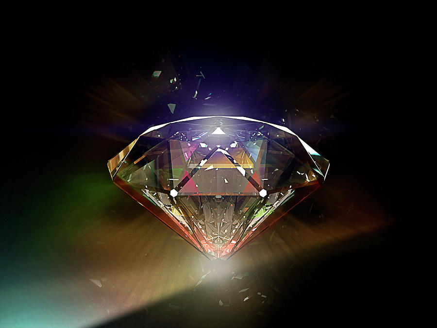 Diamond 02 Photograph by Mina De La O