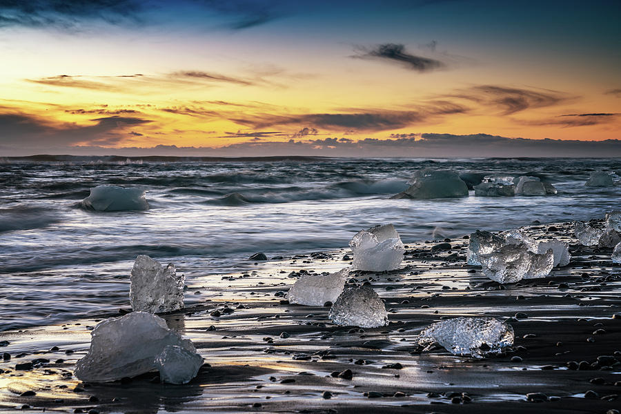 Iceland Photograph - Diamond Beach by Framing Places