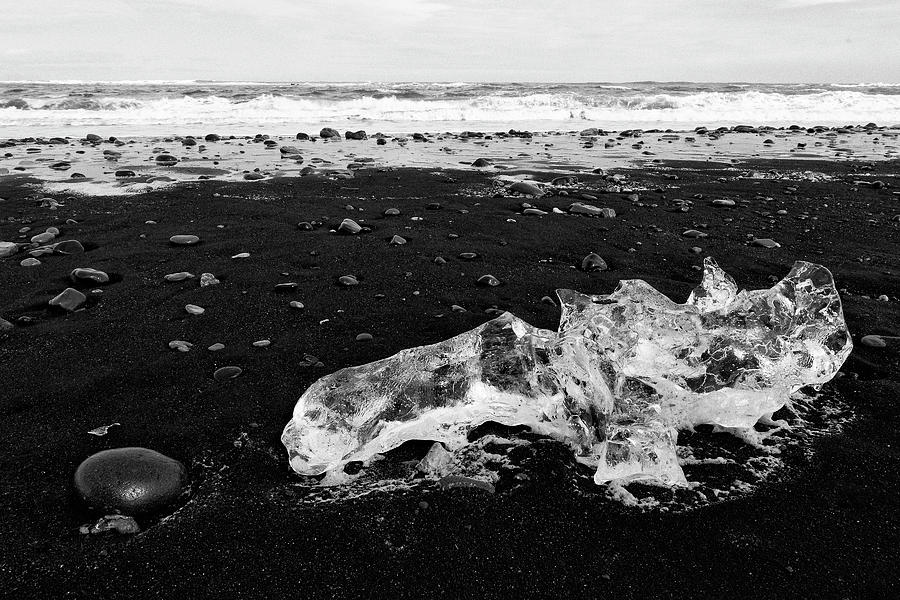 Diamond Beach Ice Black and White 6301907 by Rick Veldman
