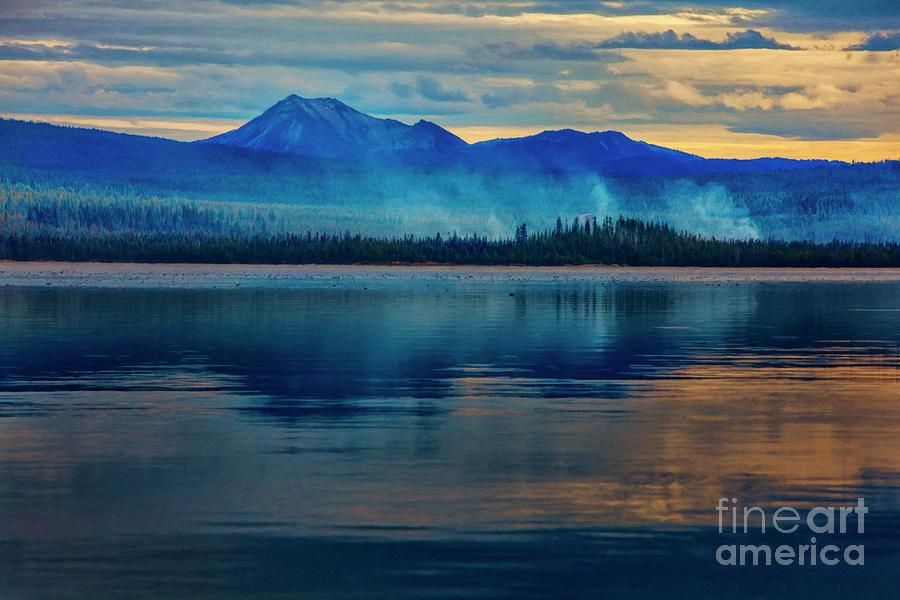 Diamond Lake Oregon Reflection by David Millenheft