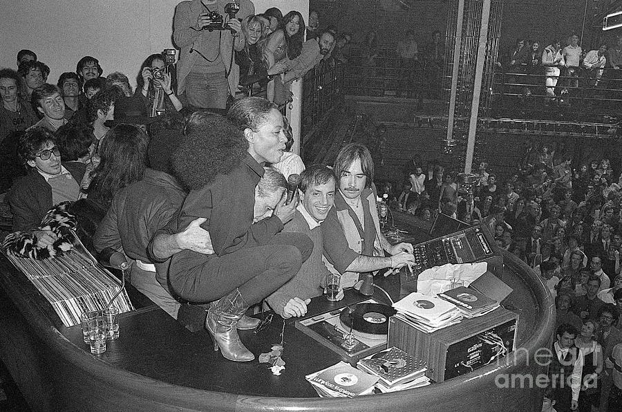 Diana Ross Squats Atop Disc Jockey Photograph by Bettmann