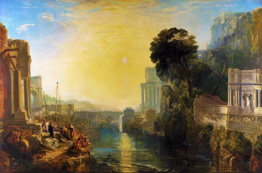 Joseph Mallord William Turner Painting - Dido Who Builds Carthage - Digital Remastered Edition by William Turner