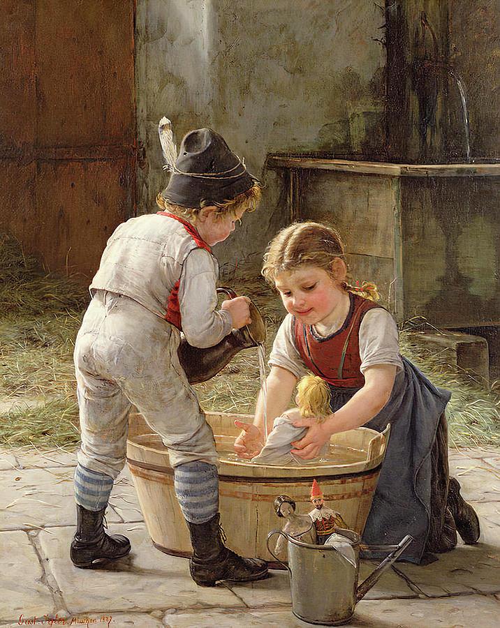Die Puppeneltern by Gustav Igler