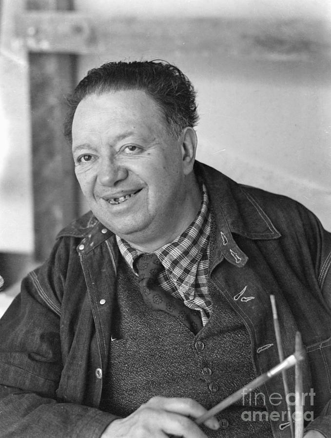 Diego Rivera Standing In Front Photograph by Bettmann