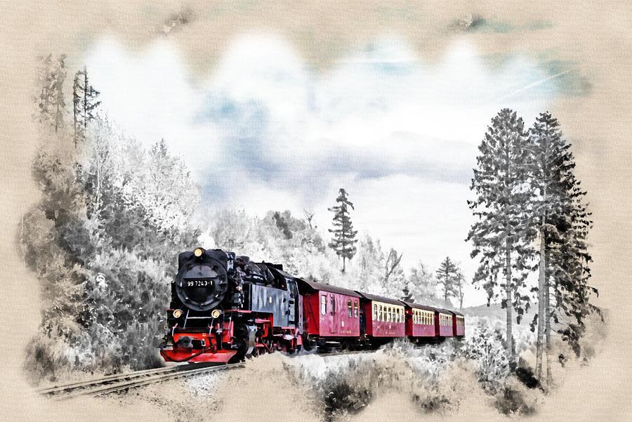 Abstract Photograph - Diesel Powered Passenger Train by Robert Kinser