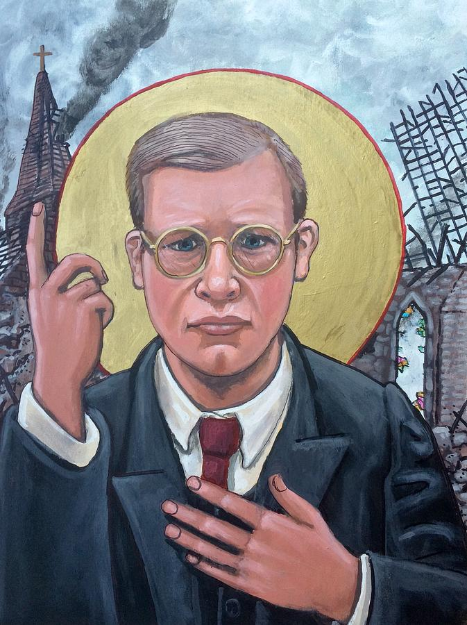Dietrich Bonhoeffer  Painting by Kelly Latimore