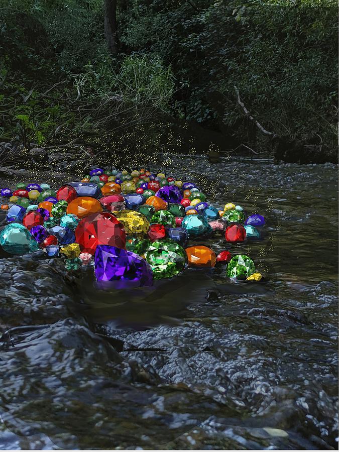 Different Rocks Digital Art by Roger Swezey