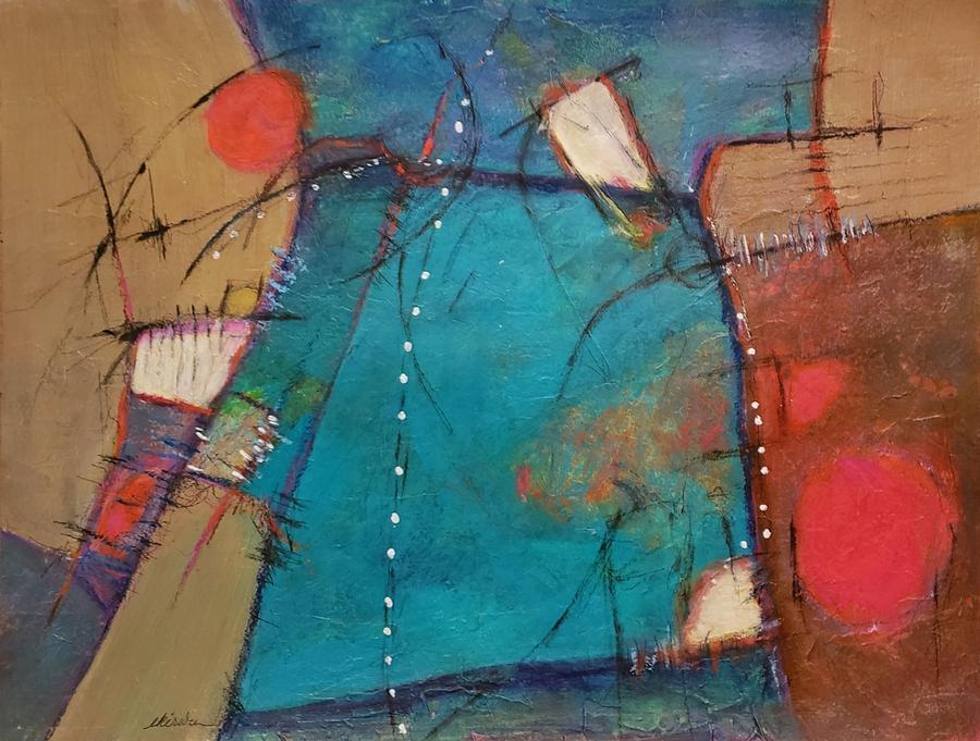 Abstract Mixed Media - Digging Deep by Ellen Kirwan