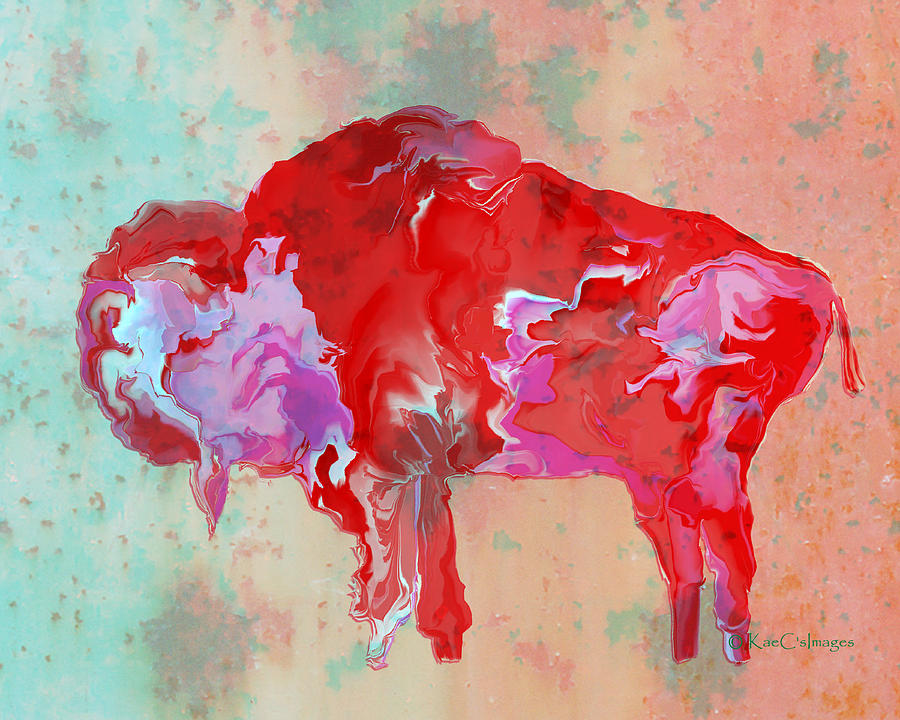 Digital Bison 6B by Kae Cheatham