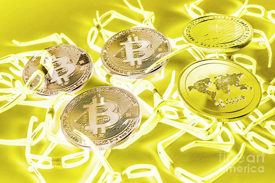 Cryptocurrency Photograph - Digital Development by Jorgo Photography - Wall Art Gallery