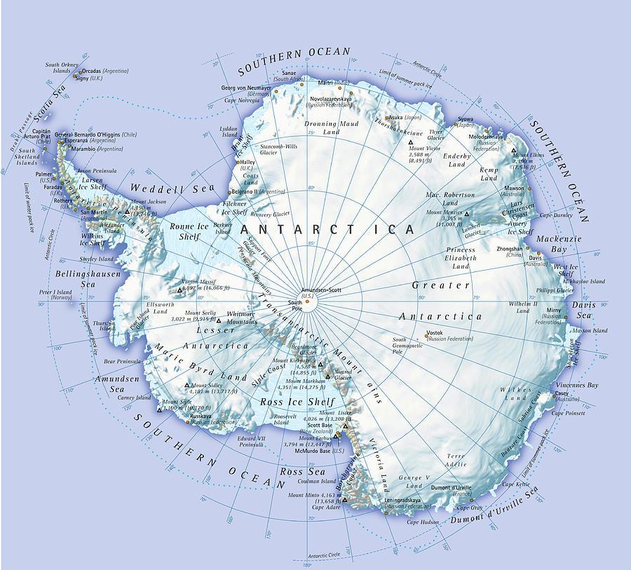 Digital Illustration Of Antarctica Digital Art by Dorling Kindersley
